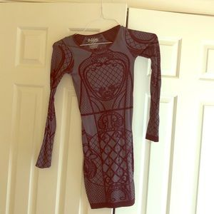 Free People Long sleeve body con
